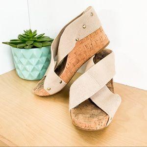 LUCKY BRAND Cork Platform Sandals